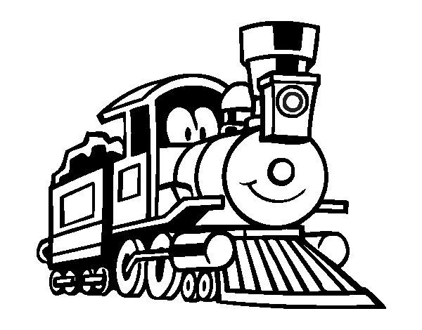 Coloriage de train dr le pour colorier - Train coloriage ...