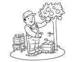 <span class='hidden-xs'>Coloriage de </span>Un agriculteur à colorier