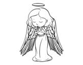 <span class='hidden-xs'>Coloriage de </span>Un ange qui prie à colorier
