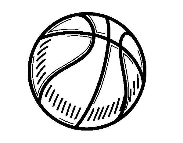 Coloriage de Un ballon de basket-ball pour Colorier
