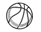 Dibujo de Un ballon de basket-ball