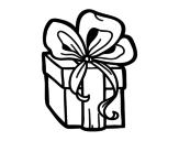 <span class='hidden-xs'>Coloriage de </span>Un cadeau de Noël à colorier