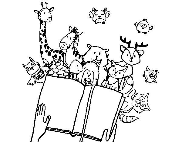 Coloriage de un conte d 39 animaux pour colorier - Coloriage de conte ...