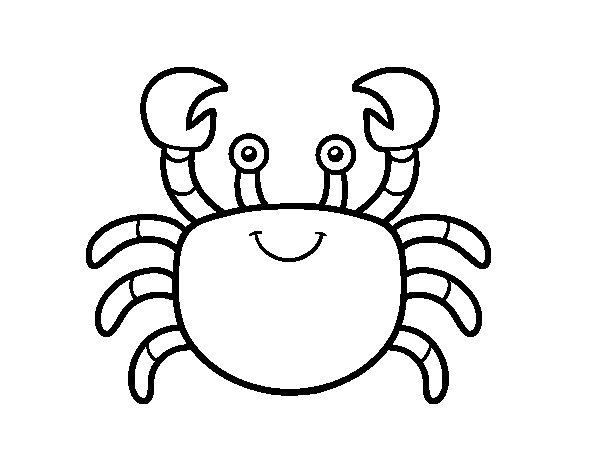 Coloriage de Un crabe pour Colorier