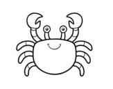<span class='hidden-xs'>Coloriage de </span>Un crabe à colorier