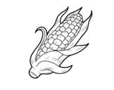 <span class='hidden-xs'>Coloriage de </span>Un d'épis de maïs à colorier