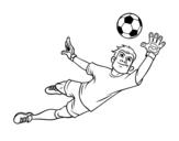 Dibujo de Un gardien de but de football