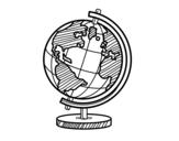 <span class='hidden-xs'>Coloriage de </span>Un globe planétaire à colorier