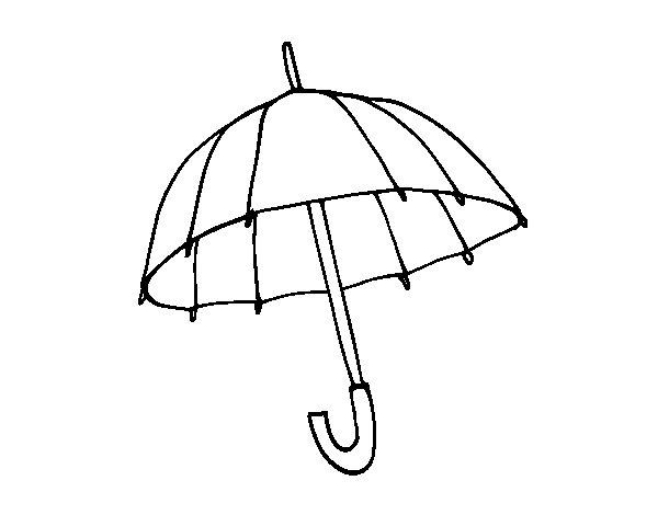 Coloriage de un parapluie pour colorier - Parapluie dessin ...