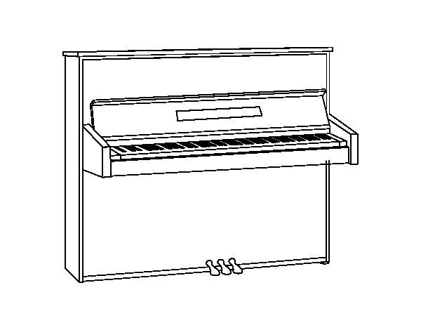 Coloriage de un piano droit pour colorier for Piano coloring pages
