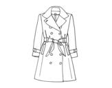 <span class='hidden-xs'>Coloriage de </span>Un trench-coat à colorier