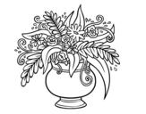 <span class='hidden-xs'>Coloriage de </span>Un vase avec des fleurs à colorier