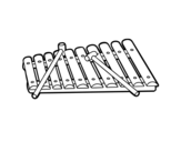 <span class='hidden-xs'>Coloriage de </span>Un xylophone à colorier