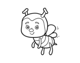 <span class='hidden-xs'>Coloriage de </span>Une abeille à colorier