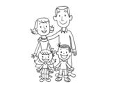 <span class='hidden-xs'>Coloriage de </span>Une famille à colorier