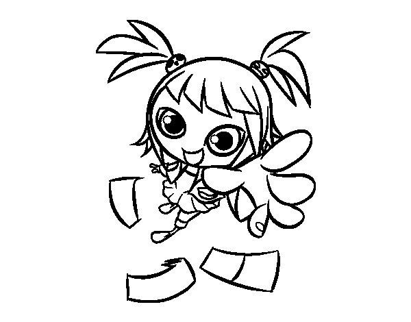 Coloriage de une fille manga pour colorier - Coloriage manga a colorier ...