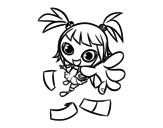 Dibujo de Une fille manga