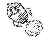 <span class='hidden-xs'>Coloriage de </span>Une fusée à colorier