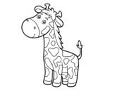 <span class='hidden-xs'>Coloriage de </span>Une girafe à colorier