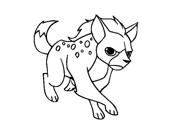 Coloriage de Une hyène pour Colorier
