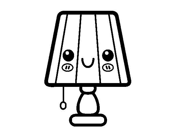 Coloriage de une lampe de table pour colorier - Coloriage lampe ...