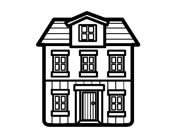 Coloriage de une maison pour colorier for Une maison dessin