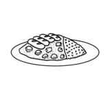 <span class='hidden-xs'>Coloriage de </span>Une plat de riz à colorier