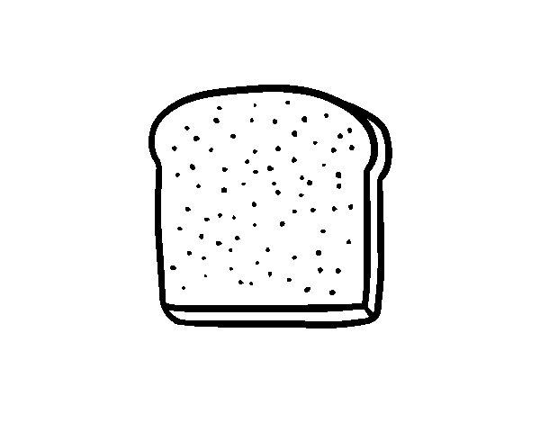 Coloriage de Une tranche de pain pour Colorier