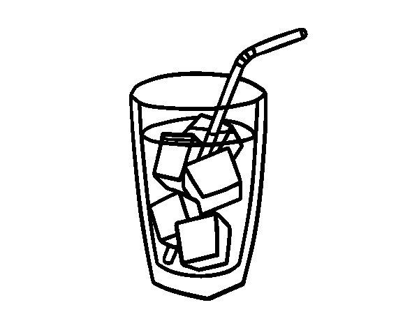 Coloriage de une verre de soude pour colorier - Dessin de verre ...