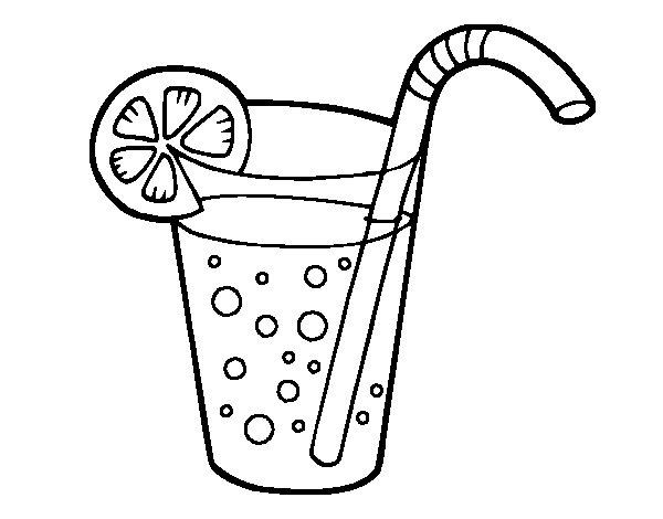 Coloriage de verre de soda pour colorier - Verre coloriage ...