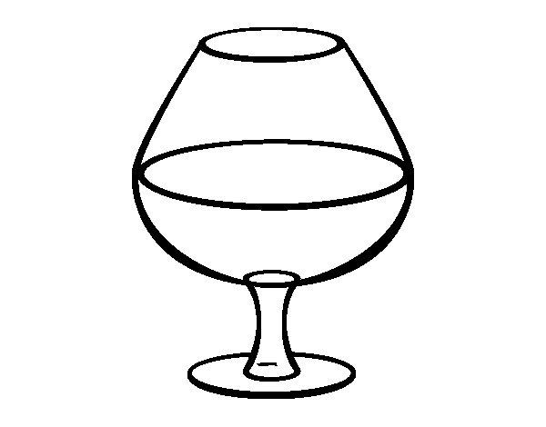 Coloriage de verre de vin pour colorier - Verre de vin dessin ...