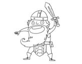 <span class='hidden-xs'>Coloriage de </span>Viking attaque à colorier