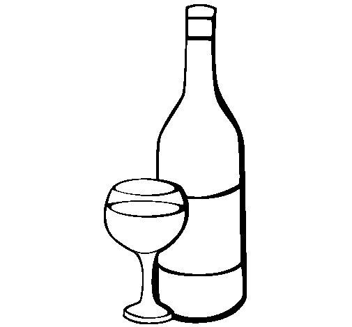 Dessin A Imprimer Bouteille De Vin bouteille de vin a colorier