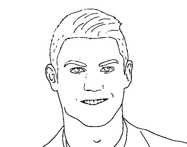 Coloriage de visage cristiano ronaldo pour colorier - Ronaldo coloriage ...
