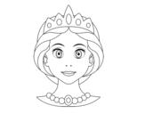 <span class='hidden-xs'>Coloriage de </span>Visage de princesse à colorier