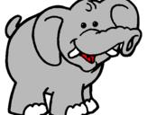 Coloriage Éléphant colorié par FLAVIE BARATON