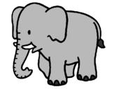Coloriage Bébé éléphant colorié par dessin