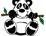 Coloriage Panda colorié par pierre