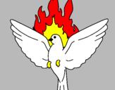 Coloriage Colombe de Pentecôte colorié par sahra