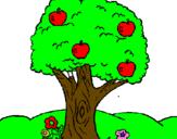 Coloriage Pommier colorié par nicholas