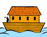Coloriage Arche de Noé colorié par loulou