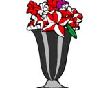 Coloriage Vase de fleurs colorié par marion