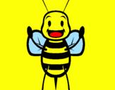 Coloriage Petite abeille colorié par lilou
