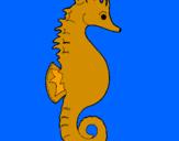 Coloriage Cheval de mer colorié par MELODIE
