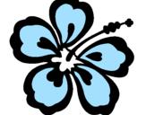 Coloriage Fleur hawaïenne colorié par snoppy