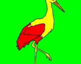 Coloriage Cigogne  colorié par charel