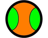 Coloriage Balle de base-ball II colorié par justin