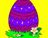 Coloriage Œuf de Pâques 2 colorié par flavio