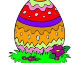 Coloriage Œuf de Pâques 2 colorié par rathi