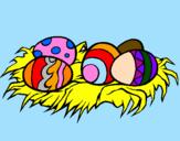 Coloriage Œufs de Pâques II colorié par GABRIELA